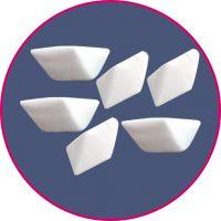 【批量供应】优质高铝瓷研磨石 斜三角高铝瓷 高铝瓷研磨石