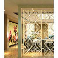 拉丝玫瑰金不锈钢屏风 家居装饰用品
