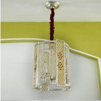 波西米亚灯具简约欧式水晶吊灯 金银箔罩客厅餐厅豪华别墅灯