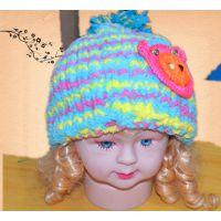 批发手工编织婴儿帽 婴儿鞋 宝宝围巾 围嘴 四件套 毛线帽