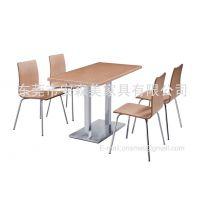 长方形大理石餐台 餐饮连锁店家具 不锈钢弯板椅(T571#)