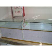 供应四川泸州市款喷砂玻璃苹果手机展示柜台土豪金苹果收银台维修台厂家直销
