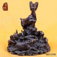 谷桥铜雕㊣ 铜工艺品 铜生肖羊摆件 生肖羊本命佛 本命年铜雕摆件