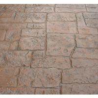 杭州市人行道路混凝土压花地坪RS/混凝土艺术地坪