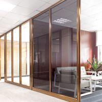 【迈泽建材】佛山厂家高端办公室隔断墙 内钢外铝内置百叶玻璃隔断 可免费画图纸