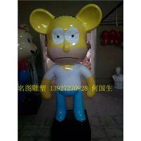 玻璃钢卡通造型雕塑厂家订制泰迪熊彩绘造型商场美陈卡通摆件