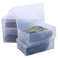 女款 环保PP透明鞋盒 侧开翻盖鞋盒 手提水晶鞋盒 收纳用具