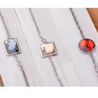 新款韩版时尚水晶手链 方形水钻手饰钛钢不锈钢饰品义乌厂家批发