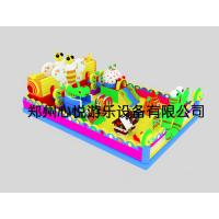 郑州新款熊出没彩虹门充气滑梯120平米多少钱?心悦猪猪侠大滑梯价格 新款pvc充气城堡厂家哪家质量好