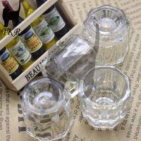 爆款促销 美甲工具洗笔碗八角杯玻璃杯水晶材质32*29*32mm