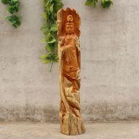 根雕木雕实木精雕工艺品 红豆杉送礼品雕刻观音摆件 2365