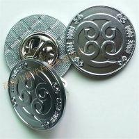 定制企业庆典精致镀银徽章胸章免费设计 包邮