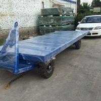 仓库散装物料运输专用搬运平板拖车、鑫力行李拖车厂家定做