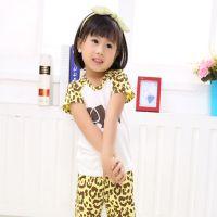 巴贝琪2015新款上市夏季时尚韩版童装家居服男童女童短袖可爱宝宝内衣儿童睡衣套装B5112