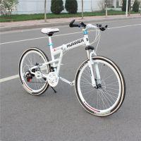 26寸碳钢悍马高配版24速山地自行车/折叠碟刹山地车单车厂家批发