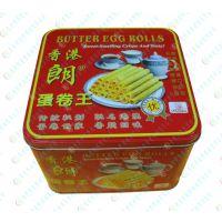 香脆蛋卷包装铁罐|蛋卷王包装金属罐|奶油蛋卷罐