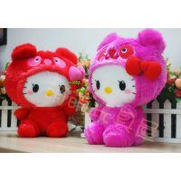 现货 外贸日单 Hello Kitty  凯蒂猫 熊猫版PANDA 毛绒公仔带布标