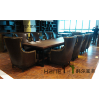 酒店餐椅 高档布艺沙发椅翻新 定制酒店简约现代实木椅子 上海韩尔家具厂