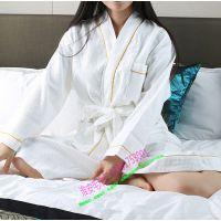 淮安纯棉毛巾批发厂家生产华夫格浴袍,全棉夏季酒店浴袍,吸汗,清爽白色男女浴衣