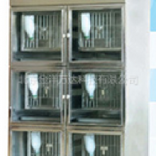不锈钢兔用层流架价格 JY-JR-B6 饲养笼盒数量:3层x2=6笼