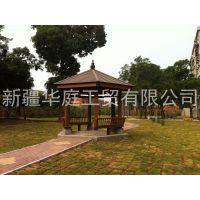 新疆塑木凉亭/新疆景区环保凉亭厂家直销/塑木型材供应厂家