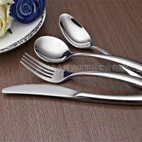 厂家直销不锈钢餐具 酒店用品餐厅餐具 婚庆刀叉勺子餐具套装批发
