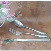 刀叉套装西餐餐具牛排刀叉勺三件套不锈钢餐刀饭勺餐叉西餐餐具
