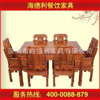 【新品特卖】厂家直销 现代中式实木餐桌 饭店餐桌椅组合 来图可定做