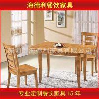 厂家直销 西餐厅餐桌椅 实木橡木餐桌 美式乡村做旧桌椅