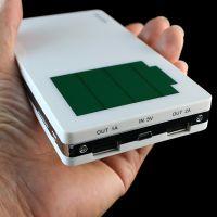 直销便携式移动电源16000移动充电 烤漆钱包外壳双USB充电宝 多功能行动电源