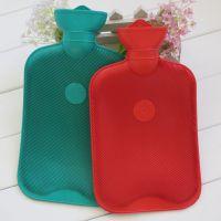 大号 橡胶冲水热水袋 充水暖手袋 暖手宝 送绒布套2000毫升