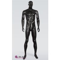 厂家热销美力亮黑色玻璃钢站姿男模特衣架(KV-8)