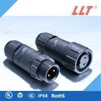 LLT-利路通M14- 2芯防水航空插头,电缆固定防水连接器,公母对插件