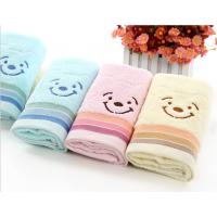 毛巾厂家 提花笑脸熊纯棉毛巾 超市劳保毛巾批发 可LOGO