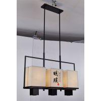 明璞中式简约吊灯 新中式风格灯具 现代灯具定制厂商
