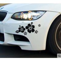 供应 花朵车贴 遮档划痕随意贴花 汽车拉花 装饰贴 反光汽车贴纸