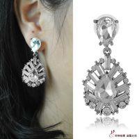 速卖通ebay爆款 简约水滴耳环 欧美时尚水晶镶钻耳环 E1557