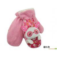 冬天全指加厚可爱手套 女 韩国冬季保暖卡通爱心棉手套厂家混批