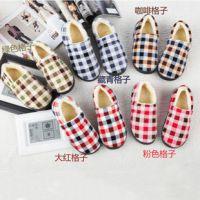 冬天冬季新款经典流行格子全包棉拖鞋 居家保暖情侣家居保暖鞋