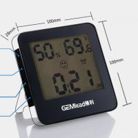 榛利GL612夜光电子闹钟 多功能电子温度计 电子温湿度计 家用夜光电子温度计