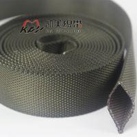 仿尼龙织带厂 供应32MM宽涤纶材质空心织带 双层隔离 管状织带