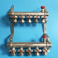 克普诺分水器/西安地暖管专用分水器/ 地热全铜双阀一体加厚 6分管地暖管 集水器