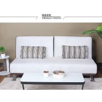 供应八达八强时尚布艺可折叠沙发床实木双人三人小户型多功能客厅书房卧室多用 白色