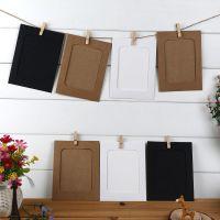 韩国DIY悬挂式6寸纸相框照片墙相框墙 10枚+麻绳+木夹子套装
