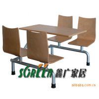 快餐店餐桌餐椅   潍坊家具厂定做各种家具快餐桌椅