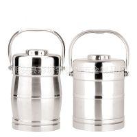 不锈钢真空提锅 保温饭盒 保温双层提锅 直型/鼓型食格 1.4-2.0L