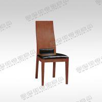 餐厅餐桌椅组合 时尚现代拼色餐椅 实木餐椅 创意高靠背餐椅