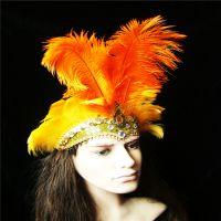 PVC化妆舞会道具威尼斯风格羽毛头饰万圣节面具礼品