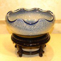 陶瓷储水缸,睡莲陶瓷储水缸,养鱼陶瓷储水缸