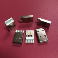 USB AM A公正反插 焊线式公头 4PIN 麻点焊盘 断裂胶芯 A公两件套 双面插